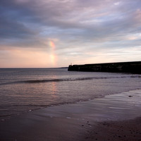 Rainbow over the North Sea from East Sands beach in St Andrews