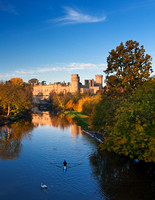 Warwick Castle in autumn