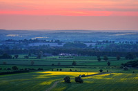 Spring sunset in the Chilterns